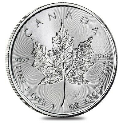 2019 1 oz Silver Canadian Incuse Maple Leaf .9999 Fine $5 Coin BU