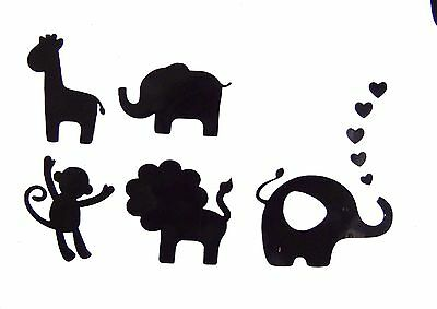 Animals Toy Box Vinyl Decal / Sticker Set