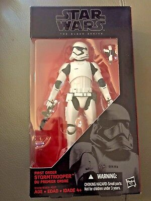 Star Wars The Black Series #04 First Order Stormtrooper TFA 6 inch MIB #2