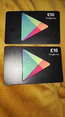 £20 Google PLAY Store GIFT CARD -  2x£10 Google Play Android Key Code