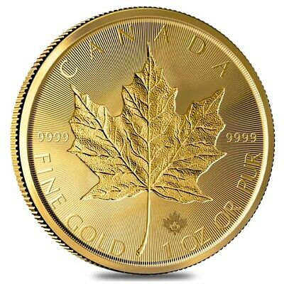 2019 1 oz Canadian Gold Incuse Maple Leaf $50 Coin .9999 Fine BU