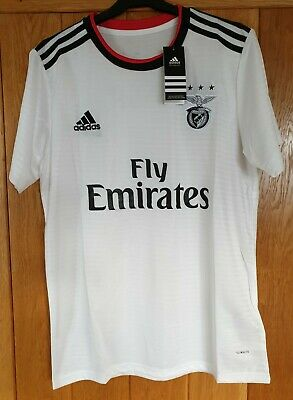 MENS BENFICA FC AWAY FOOTBALL SHIRT Size EXTRA LARGE