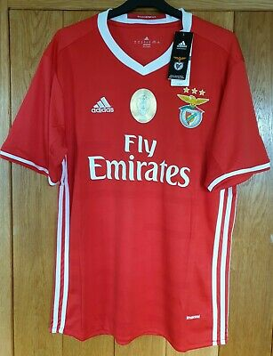 MENS BENFICA FC HOME FOOTBALL SHIRT Size EXTRA LARGE