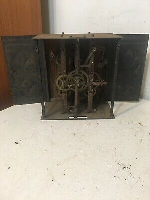 Antique French Morbier Wag On The Wall Clock Movement #6