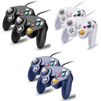 2 Pack Wired NGC Controller Gamepad for Nintendo GameCube GC & Wii Console US