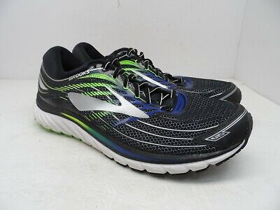 a9d520dfedae Brooks Men s Glycerin 15 Running Shoe Black Electric Brooks Blue Green Gecko  13M