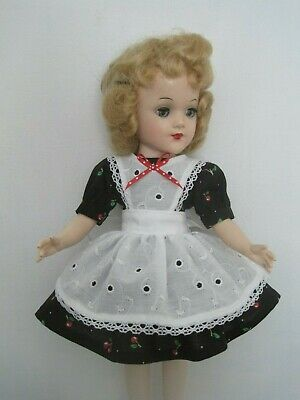 Dress and pinafore - clothes for Mary Hoyer and other slender 14 inch dolls