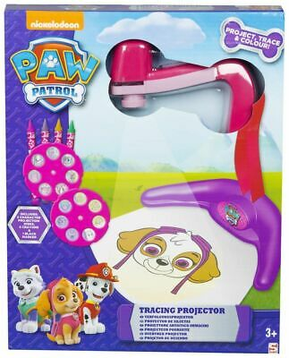 Paw Patrol Girls Tracing Projector (5x31x25.5) cm Projection Disks Crayons Trace