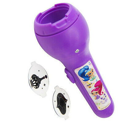 Shimmer & Shine Projector Torch LED Flash Light Kids Gift Torch Night Light 3+y