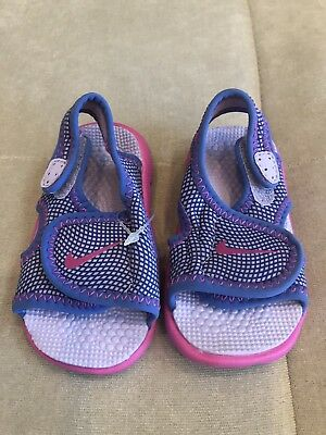 New Nike Baby Girl Sandals Size 4 C Pink Purple Swim