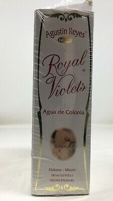 3 pack: Royal Violet By Agustin Reyes 5 Oz Agua De Colonia Eau De Cologne Bottle