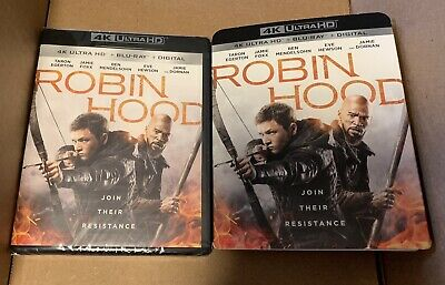Sealed Robin Hood 4K Ultra HD + Blu-ray + Digital 2018 NEW with Slipcover HDR