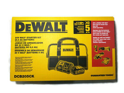 DeWalt 20-Volt MAX 5.0Ah Lithium-Ion Battery and Charger Kit with Bag DCB205CK