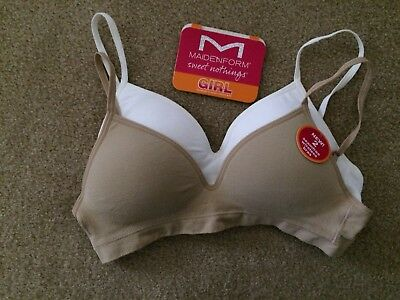 0525a917e0 Maidenform Girl s Sweet Nothings Seamless Wireless Bras Size 32A Set Of 2