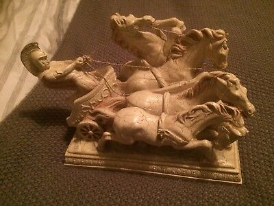 Antique Roman Chariot & Horses Decorative Ornament.  ( Price Offers Considered)