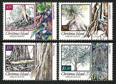 1991 Christmas Island - Trees of Christmas Island (4) MUH