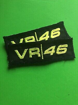 Toppa Patch vr46 VALENTINO ROSSI YAMAHA GIALLO FLUO MOTOGP Ricamata Doctor MOTO