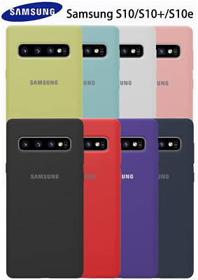 Samsung Silicone Shockproof Back Case Cover For Galaxy S10+ Plus S10e S10