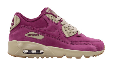 NIKE AIR MAX 90 Winter Premium Bordeaux GS Shoes 943747 600