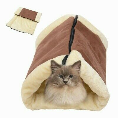 Tube 2 Cat Pet Tunnel Cushion 1 Bed Mat Fleece Pad Dog Indoor House Kennel Crate