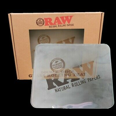 RAW Rolling Papers FROSTED ICE GLASS Tray 11x14 *LIMITED EDITION* RAWthentic