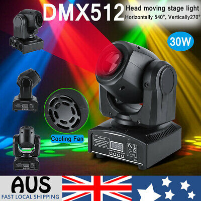 Disco Party DJ LED RGB Stage Effect Light Lamp Magic Head Moving DMX Projector