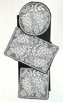 657 Vintage LW Filet BLOOMING WISTERIA DOILIES Pattern to Crochet (Reproduction)