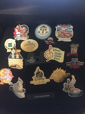 Authentic Disney 15 Pin Lot Starter Disneyland LE Rocketeer Peter Pan Downtown