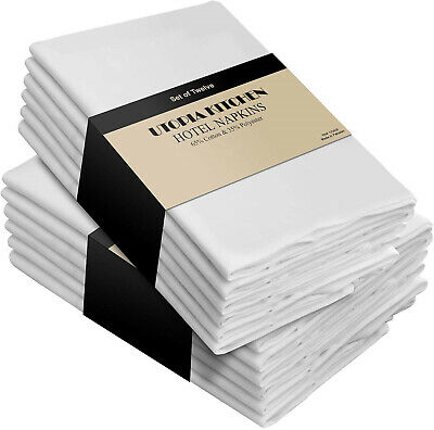 Utopia Kitchen Cotton Dinner Napkins 12 Pack- Soft and Comfortable - Durable -