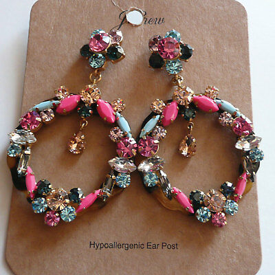 a4bea169cf18b SHOSHANNA~HOOP EARRINGS~NWT Crystal Accent stones~QVC Sold Out ...