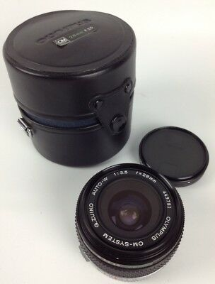 Olympus OM System G.Zuiko Auto-W 28mm f/3.5 Lens Excellent Japan Polarize Filter