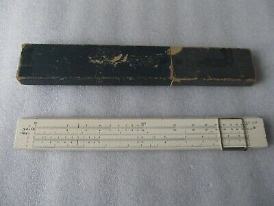 1960's Vintage SUN Hemmi Bamboo Slide Rule No 50W & Case, made in Japan