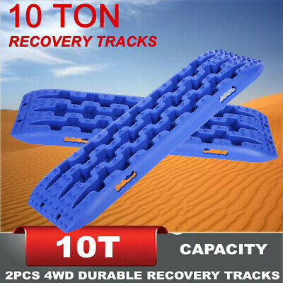 Pair 4WD Recovery Tracks 10T Off Road 4x4 Car Snow Mud Sand Tracks 10 ton HOT