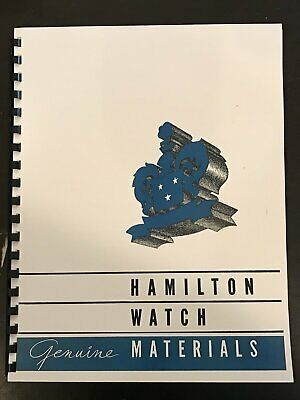 Hamilton Watch Material Catalog 1947 edition - reprint