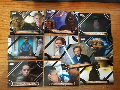 Star Wars Galactic Files 2018 Memorable Quotes Chase Card MQ10
