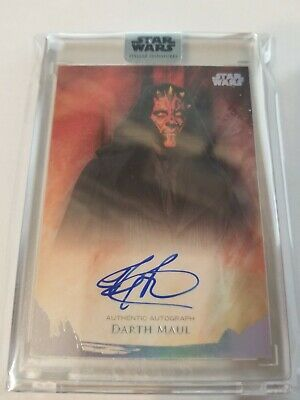 2018 Star Wars Stellar Signatures Ray Park as Darth Maul Auto Autograph 6/40