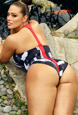 9296a8e14315d Ashley Graham x Swimsuits for All Size 10 Samurai One Piece Brushstroke NWT   92