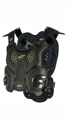 Alpinestars MX/Motocross A-1 Chest Protector Roost Guard (Black/Anthracite)