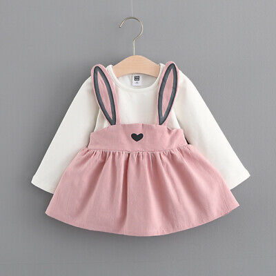Cute Toddler Baby Kids Girls Long Sleeve Princess Wedding Party Gown Prom Dress
