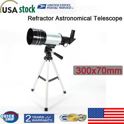 70mm F/4 Astronomical Telescope Aperture 150xZoom HD High Resolution Night USA