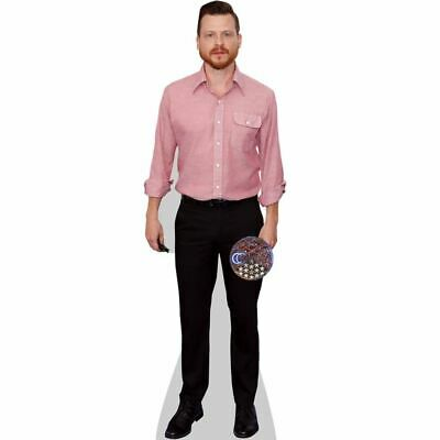 Black Outfit mini size Cardboard Cutout Standee. Kevin Clifton