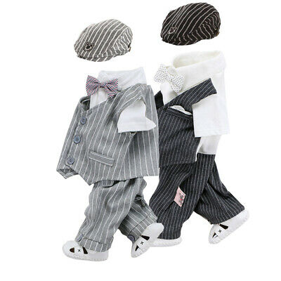 baby boys Tuxedo cotton jumpers birthday bodysuit party wedding outfits & set