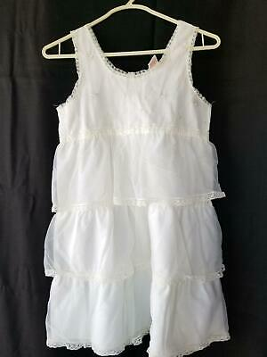 Vintage Girls Slip Tiered Her Majesty Sz 10