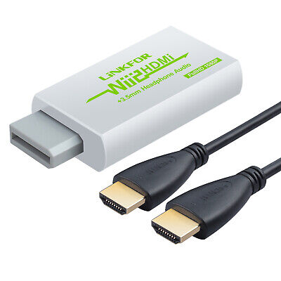 720/1080p HDTV Wii To HDMI Converter Adapter 3.5MM Audio & HDMI Cable Signal