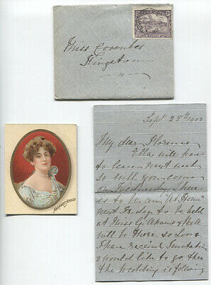 TASMANIA  1903: small cover mailed from KINGSTON - contents include tobacco card
