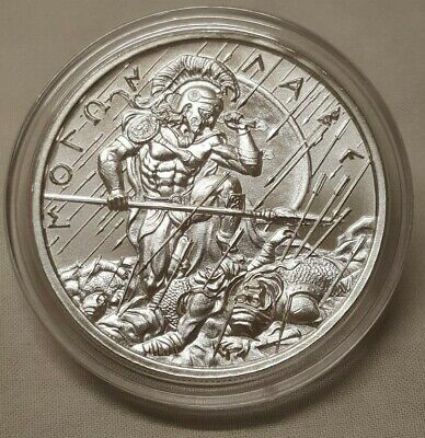 1oz Spartan Fighting in the Shade Silver Round Coin Molon Labe Come and Take It
