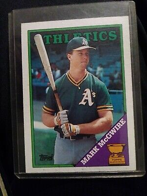 1988 Topps Mark Mcgwire Oakland Athletics 580 Baseball Card