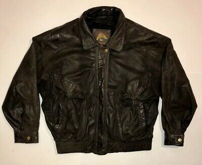 d25f81d2f ADVENTURE BOUND BY Wilsons Men's Brown Vintage Bomber Leather Jacket ...