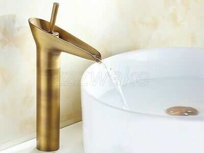 Antique Brass Bathroom Faucet Vessel Sinks Faucet Cold And Hot Water Tap Znf067