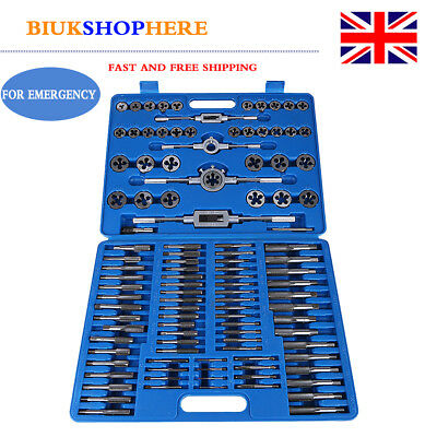 110 Pcs Tap And Die Set Metric Wrench Cuts M2-M38 Bolts Hard Case Engineers Kit